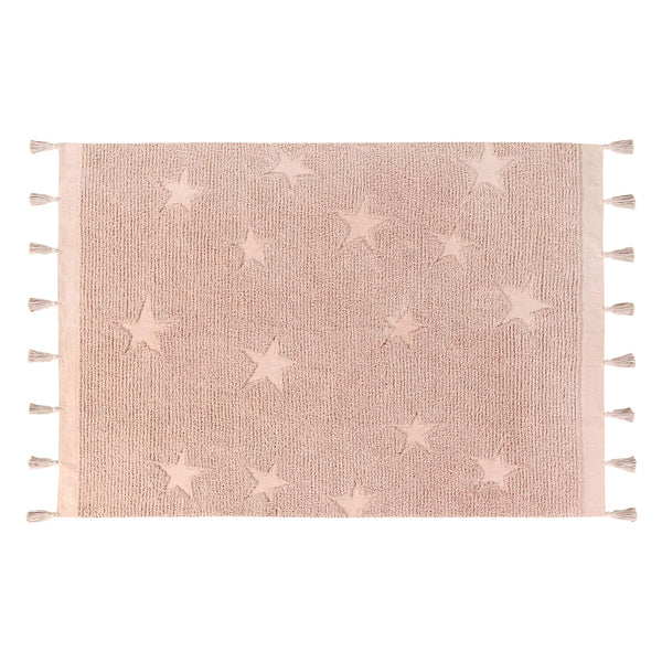 Hippy Stars Washable Rug - Vintage Nude