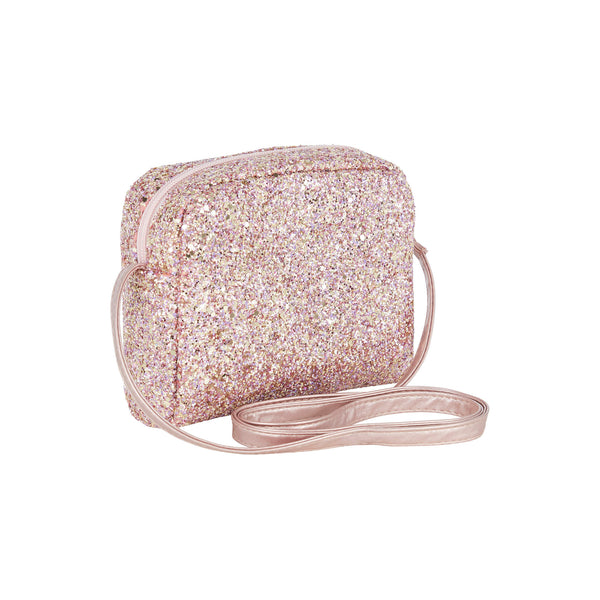 Mimi Glitter Cross Body Bag - Rose