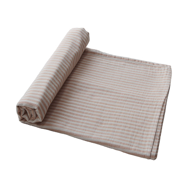 Natural Striped Swaddle