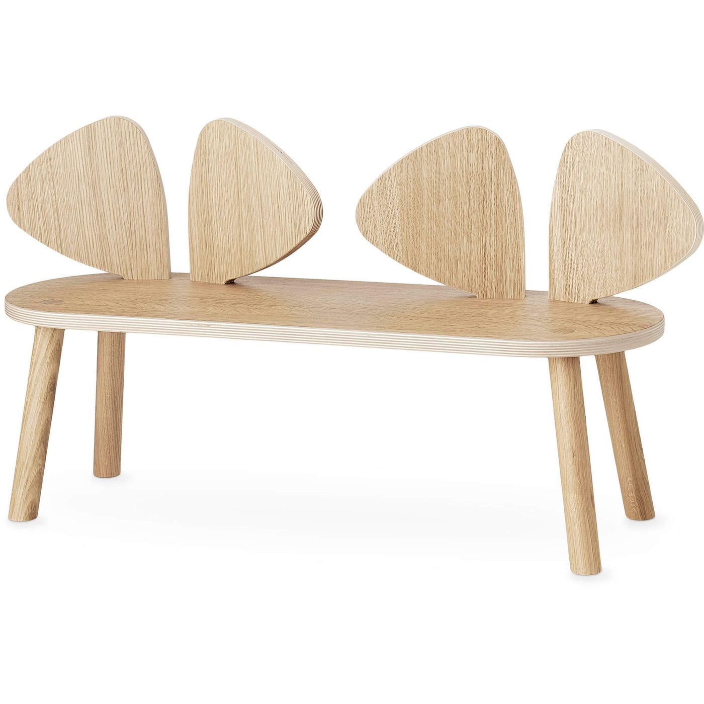Oak Mouse Bench