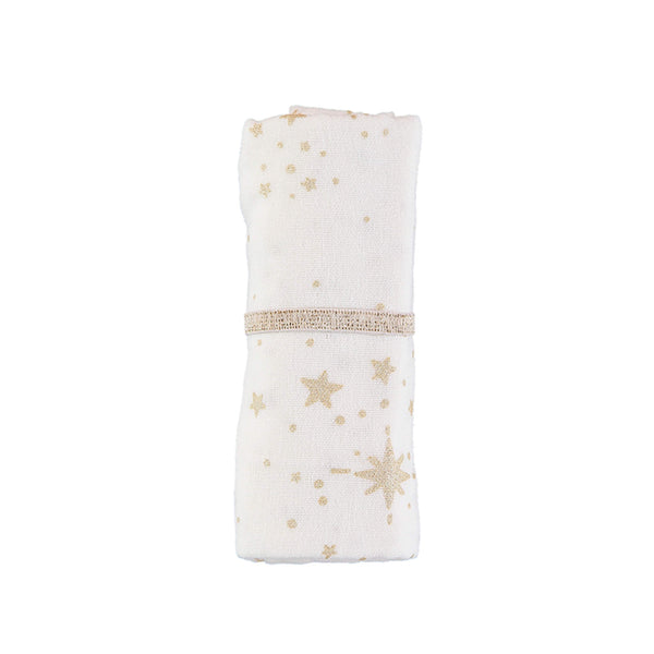 Baby Love Muslin - Gold Stella / White