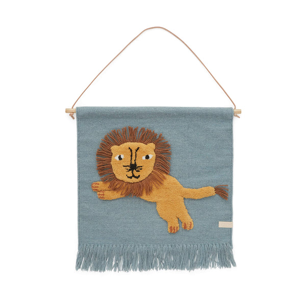 Jumping Lion Wall Hanging