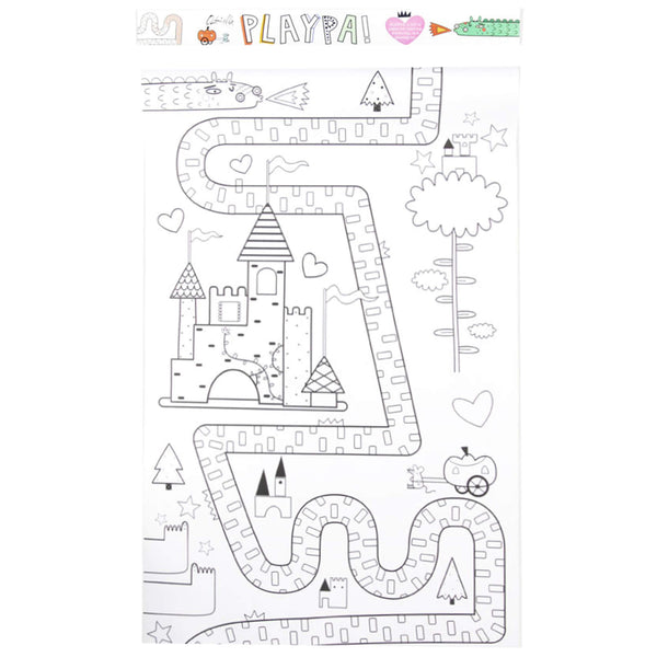 Playpa Paper Activity Roll -  Fairy Tale