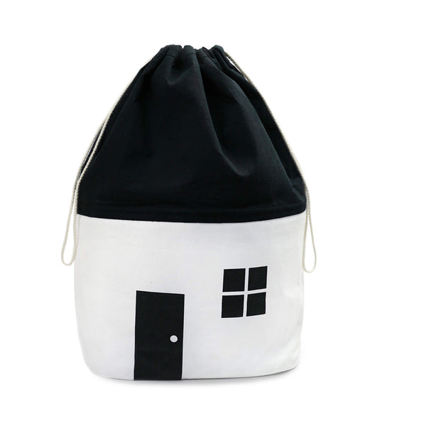 House Storage Bag - Black/White - Medium