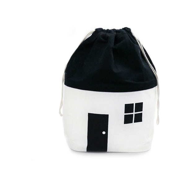 House Storage Bag - Black/White - Small