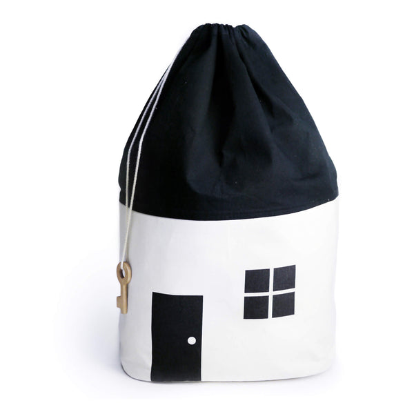 House Storage Bag - Black/White - Large