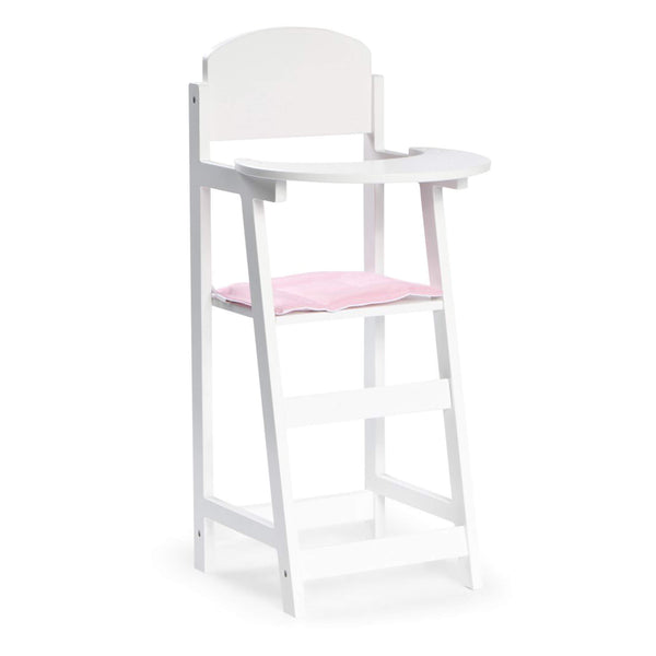 Dolls Wooden Highchair - White