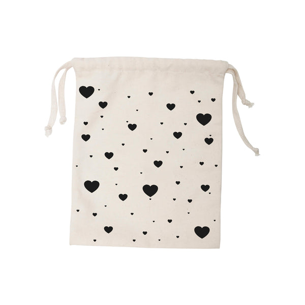 Small Heart Fabric Toy Storage Bag