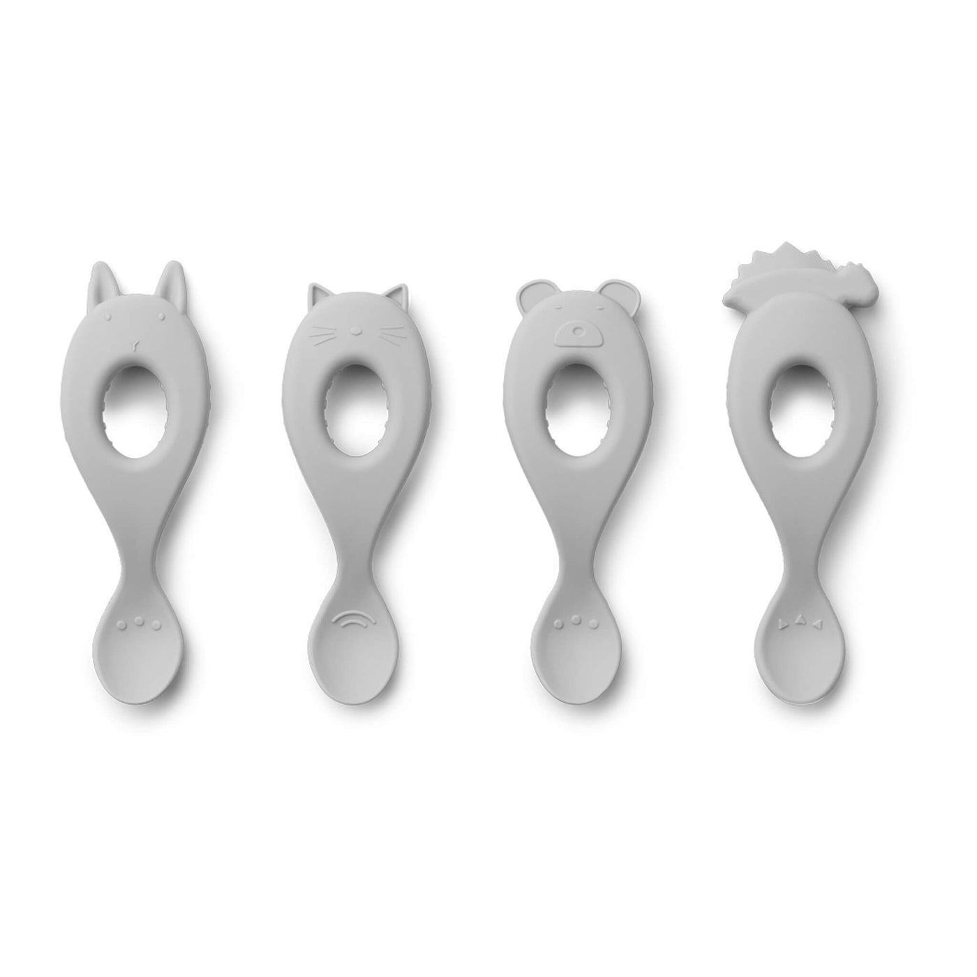Silicone Spoons - Grey (Pack of 4)