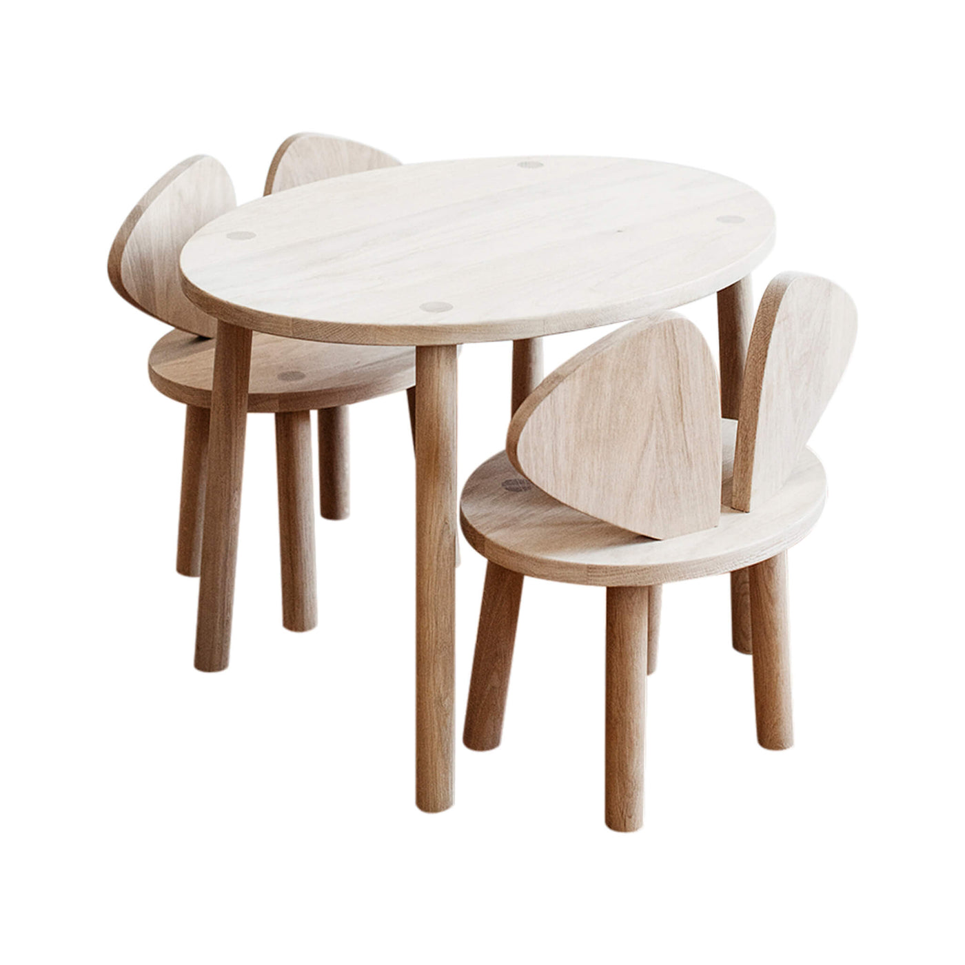 Mouse Chair & Table Bundle - Oak