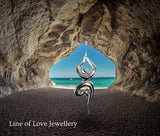 Yoga tree pose sterling silver pendant by Joseph Chiang