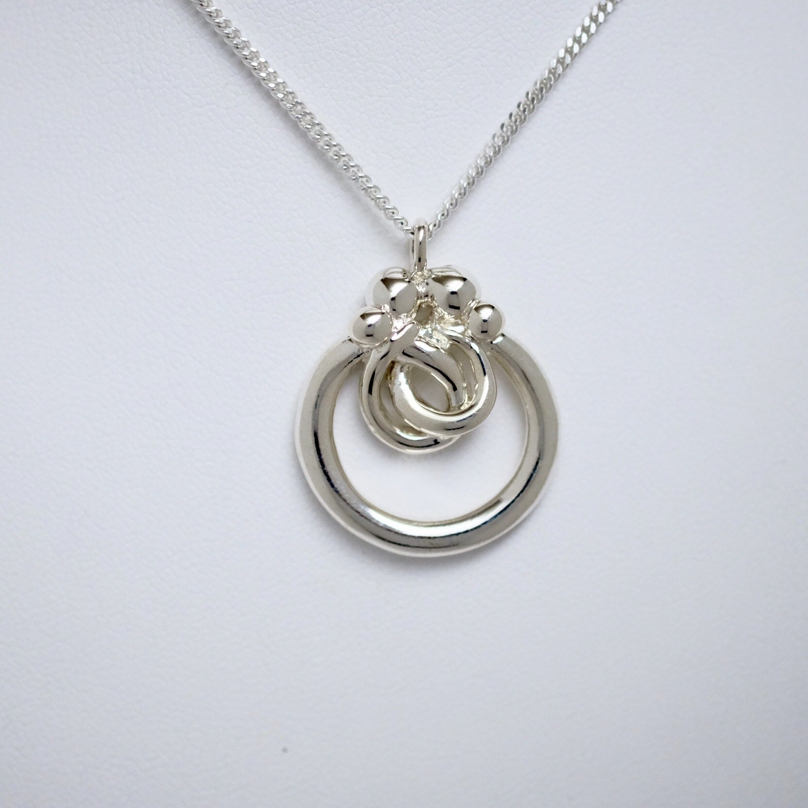 Family of Four small circle pendant Line of Love Jewellery by Joseph Chiang