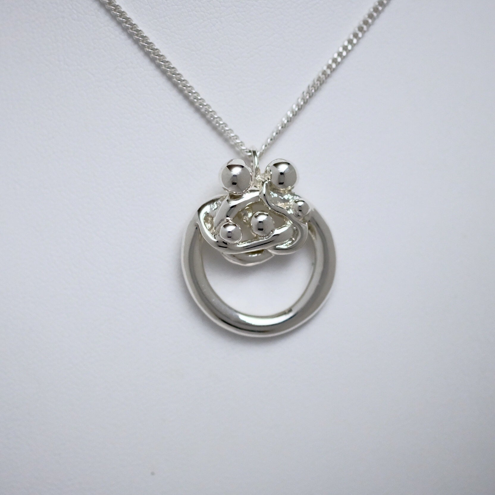 Family of Five small circle pendant Line of Love Jewellery by Joseph Chiang