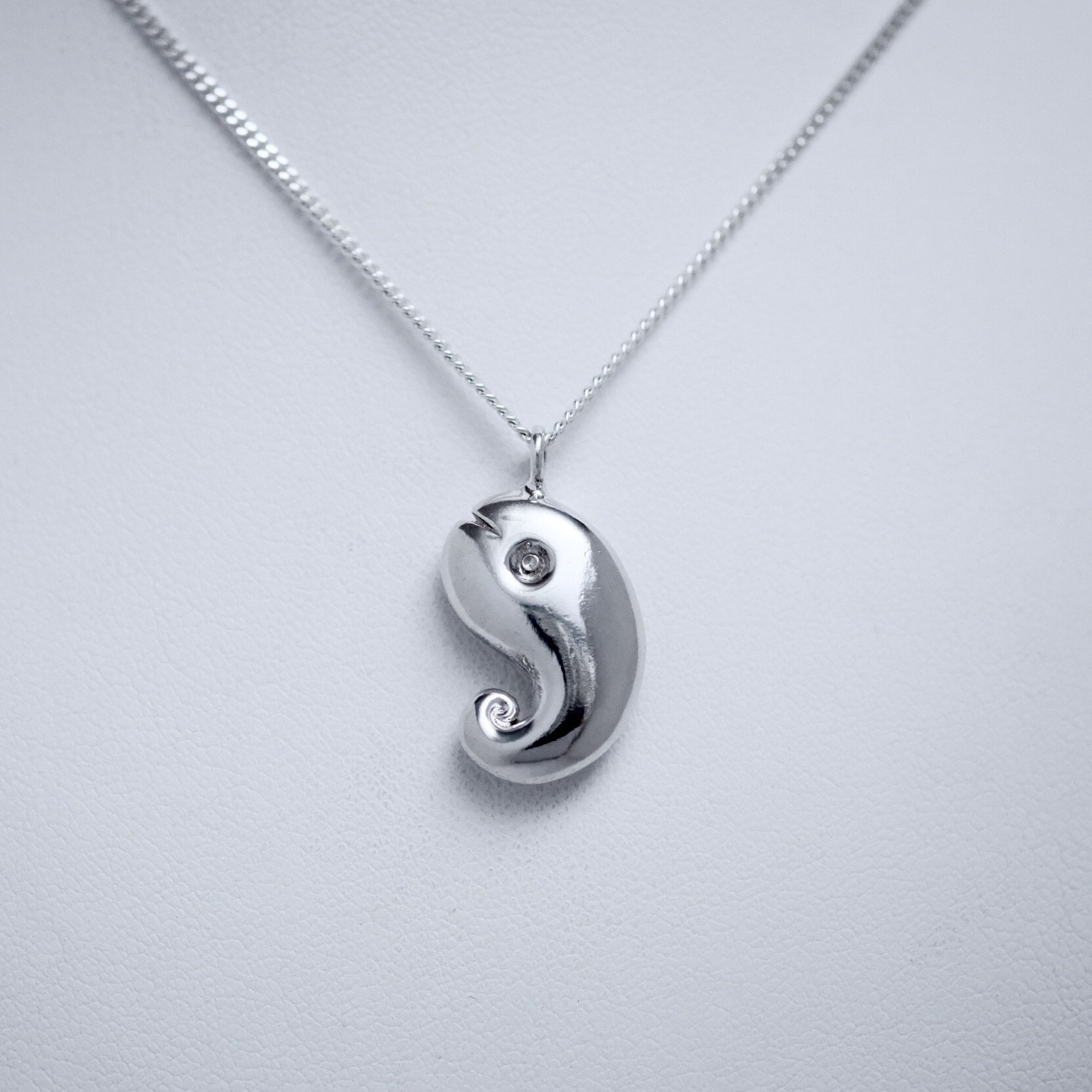 Yin & Yang Line of Love sterling silver pendant by Joseph Chiang