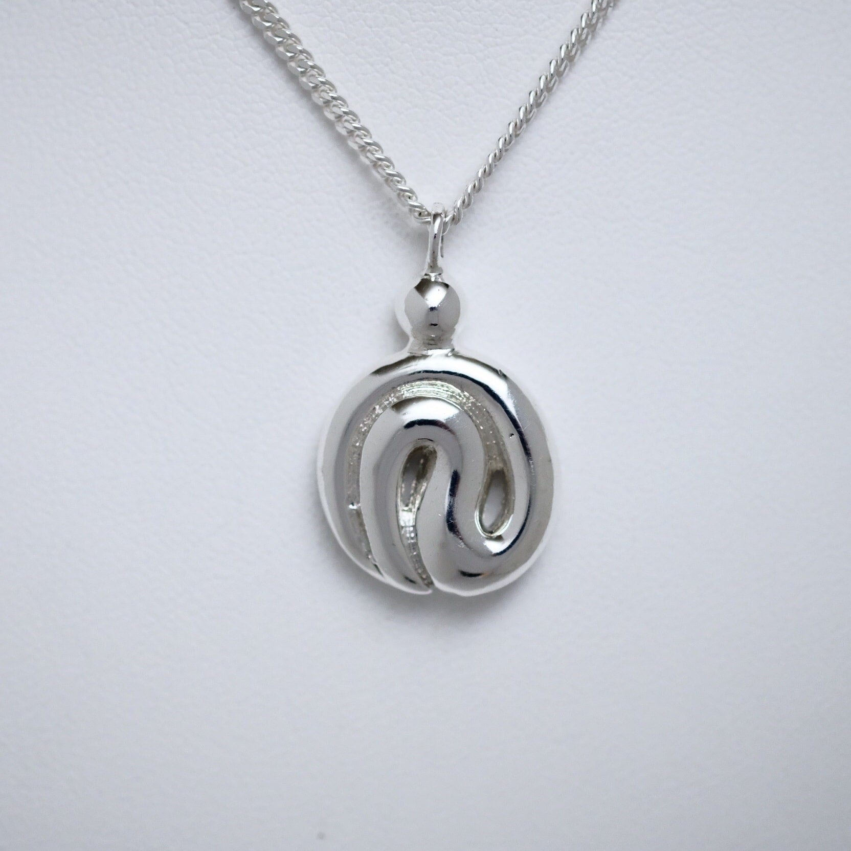 I Miss You single size sterling silver pendant by Joseph Chiang
