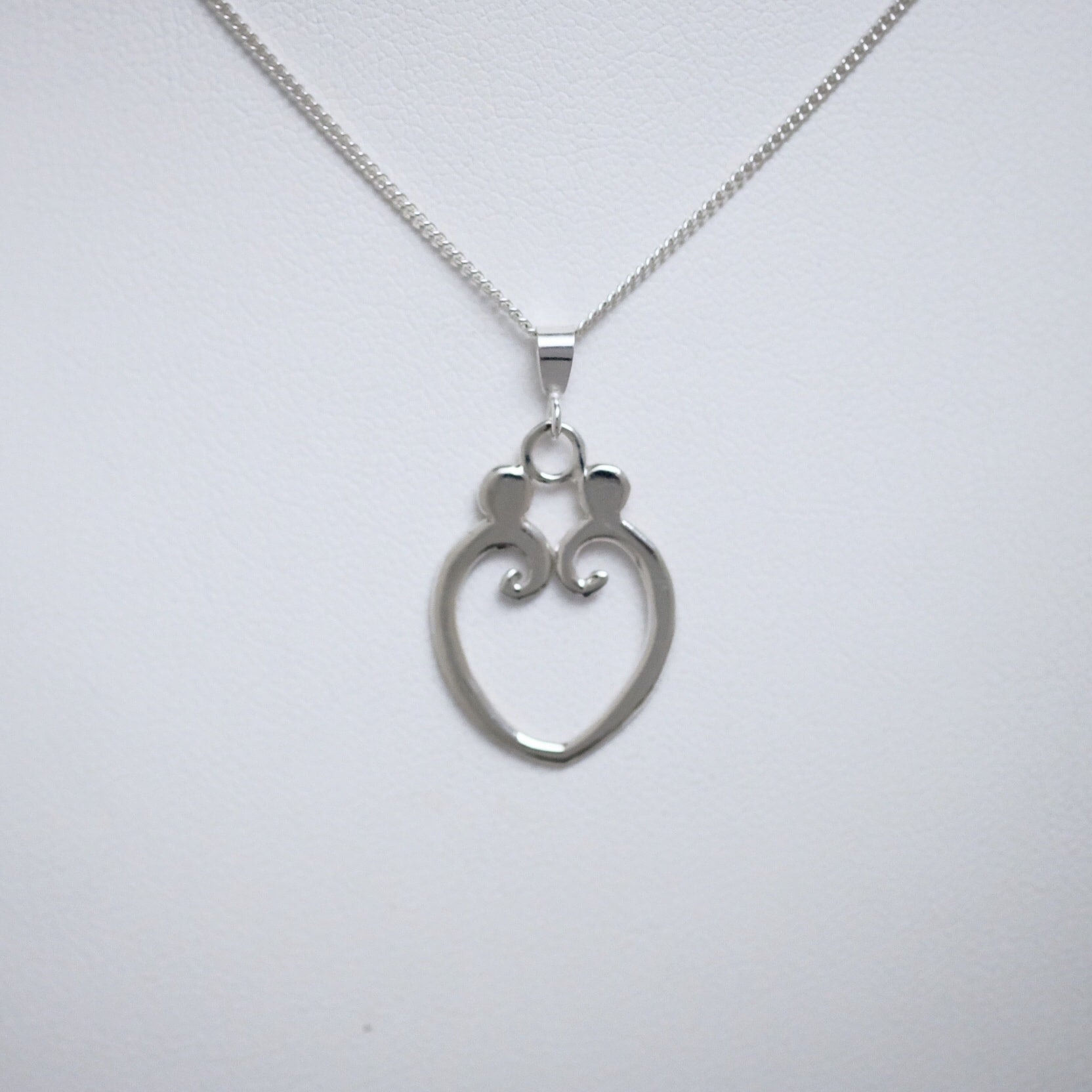 Loving Heart single size sterling silver pendant by Joseph Chiang