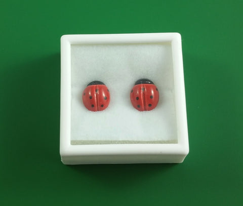 Ladybug stud earrings (medium)