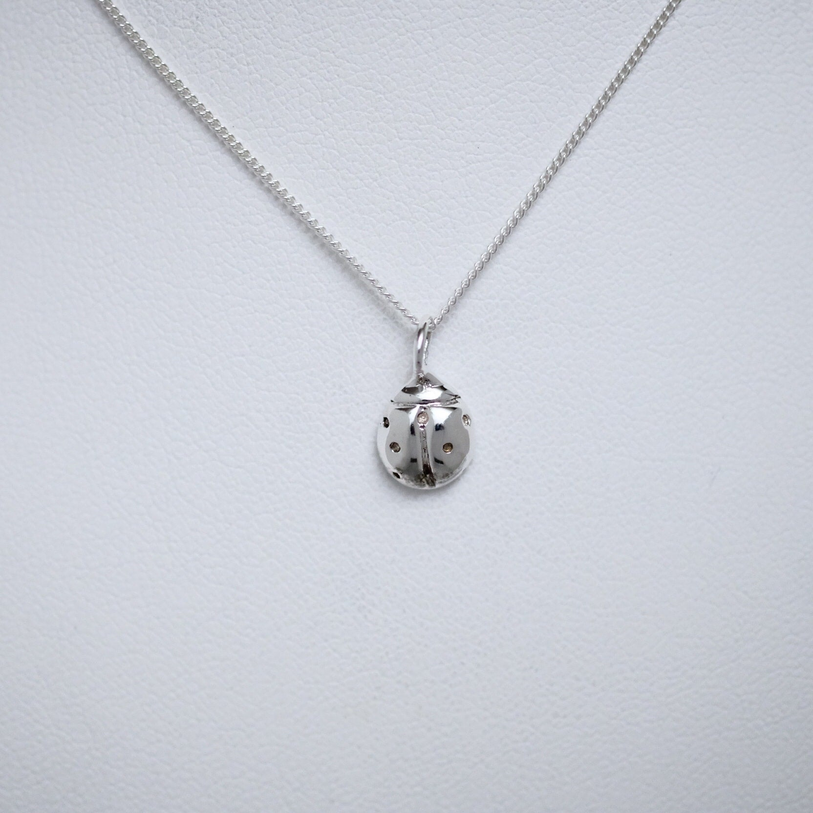 Medium sterling silver ladybug necklace by Joseph Chiang
