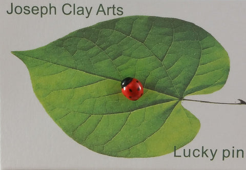 Ladybug porcelain pin (small) - $39.95 per pack of 5