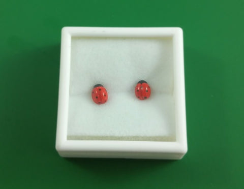 Ladybug stud earrings (small)