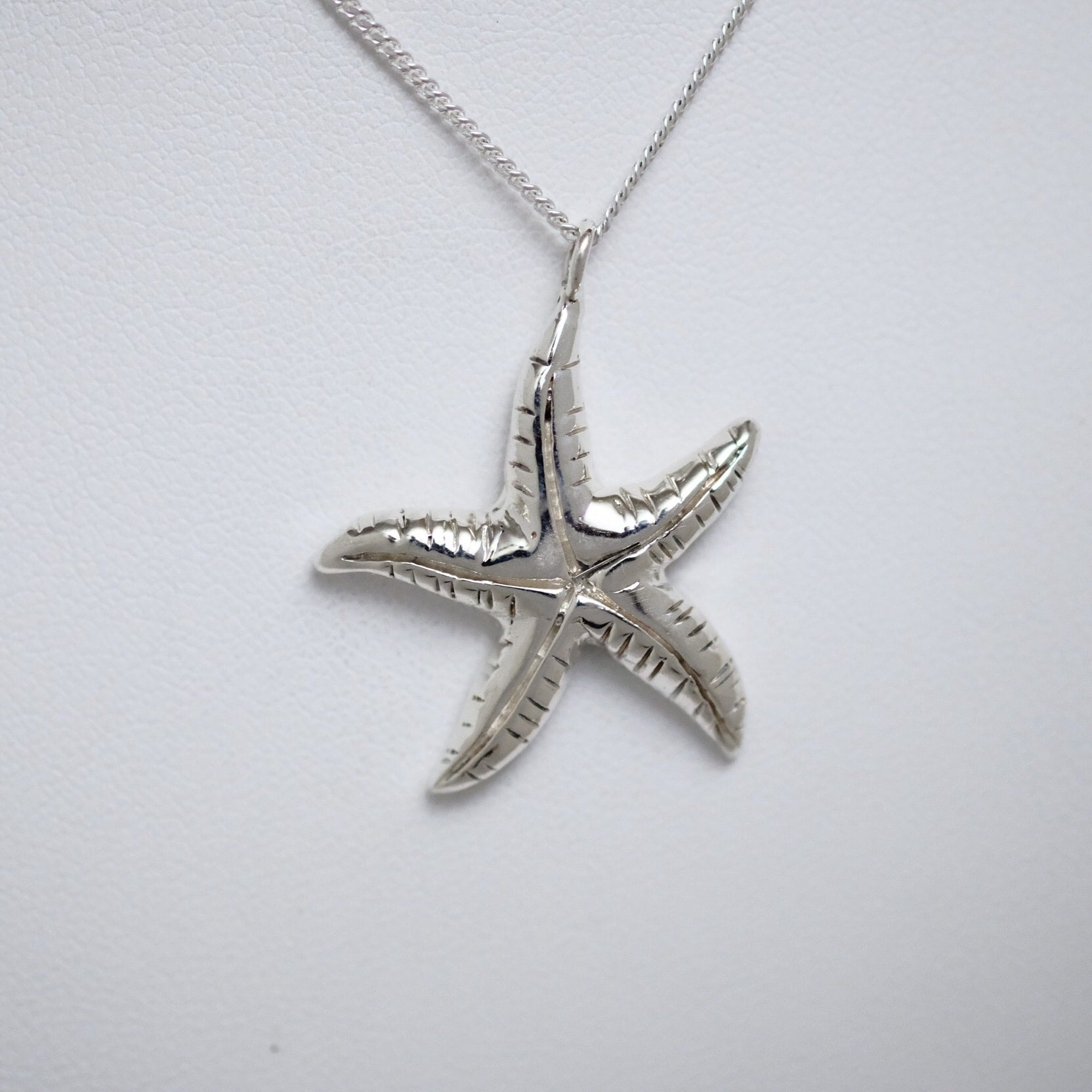 Starfish large sterling silver Line of Love pendant by Joseph Chiang