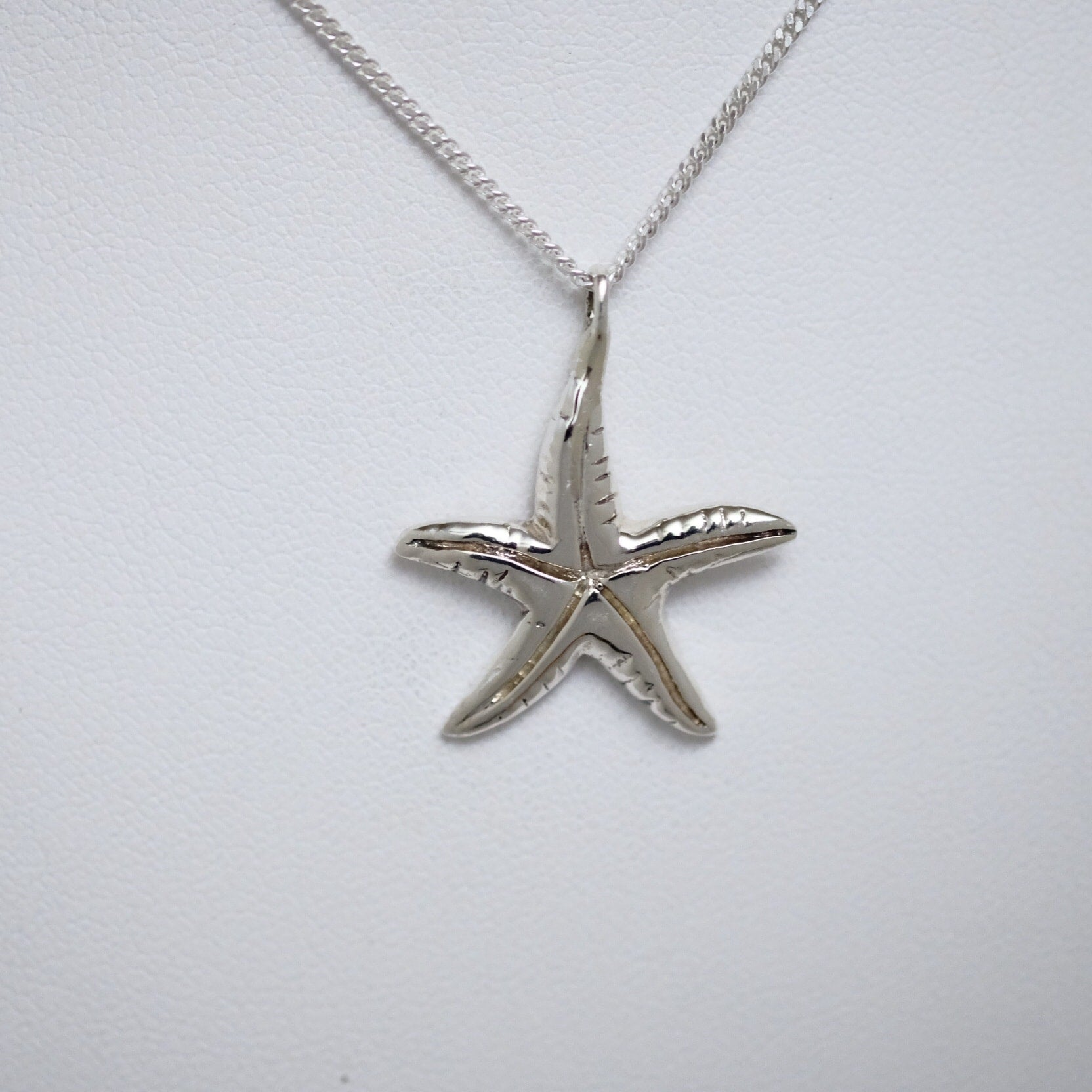 Starfish small sterling silver Line of Love pendant by Joseph Chiang