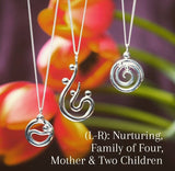 Family of Four / Mother & Three Children (small pendant) #104A