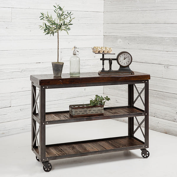 Signature Reclaimed Rolling Cart