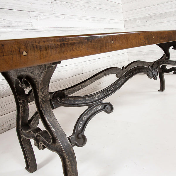 Signature Reclaimed Farm Table with Vintage Scroll Base