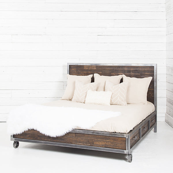 Semi Industrial Bed with Storage