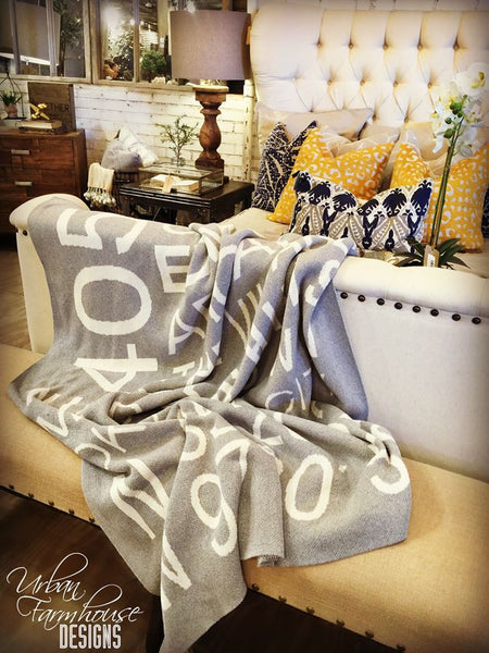 Locally Made Organic Cotton 405 Throw Blanket