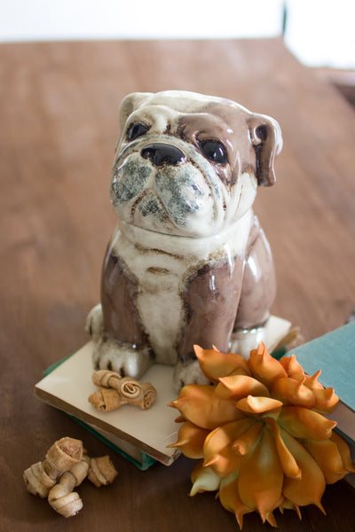 Ceramic Bulldog Cannister