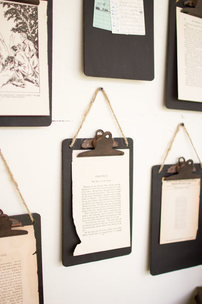 Set Of Six | Black Clip Board Photo/Notes Holder