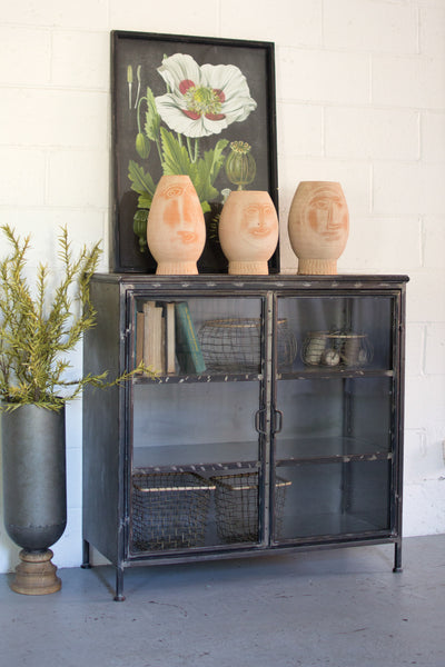 Iron and Glass Apothecary Cabinet