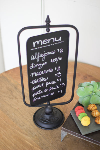 Table Top Swivel Chalkboard Sign
