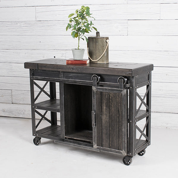 International Harvester Co. Rolling Barn Door Entertainment Center