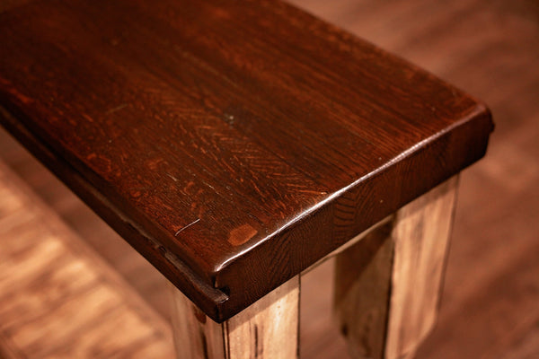 Signature Sofa Table w/ White Turn Legs