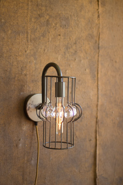 Wall Sconce Light with Gems