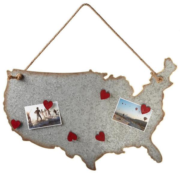 USA Magnet Board with Heart Magnets