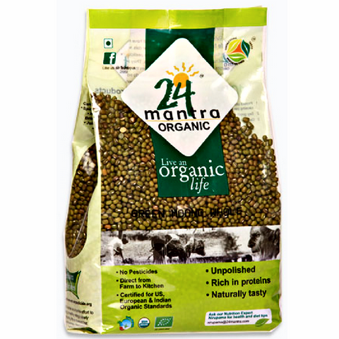 Moong Green Whole Beans - Organic 2Lbs