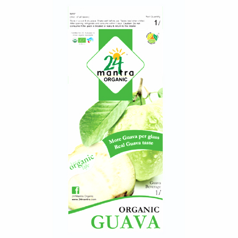 Guava Juice Nectar - Organic 1 litre