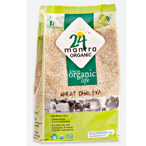 Wheat Dhaliya (Cracked Wheat) - Organic 2Lbs