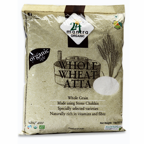 Whole Wheat Flour (Atta) - Organic- 2.2 Lb - BazaarPrime  - 1