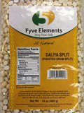 Fyve Elements Roasted Gram Split (Daliya Split) 400g - BazaarPrime  - 1