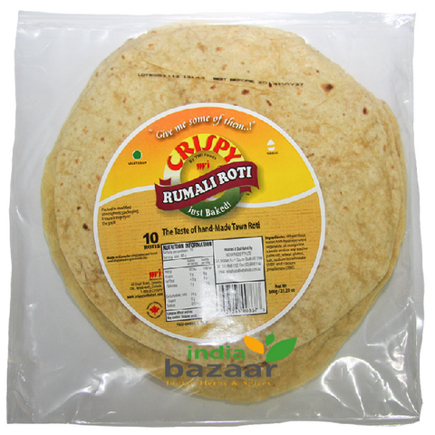 Rumali Roti Whole Wheat Fresh 10 rotis - BazaarPrime