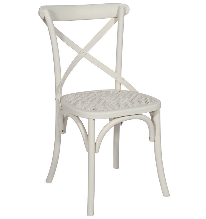 White X back chair and cushion
