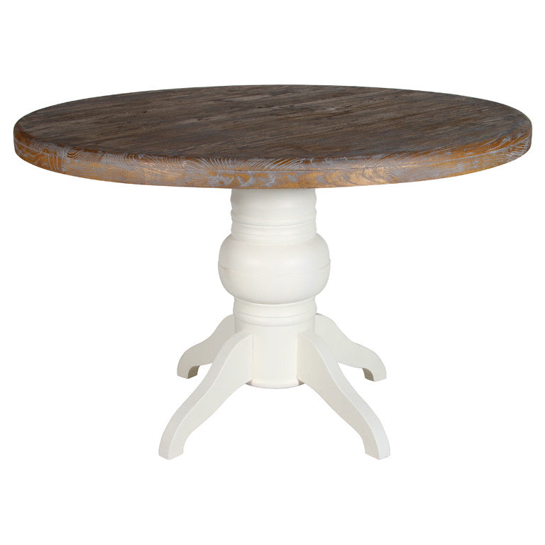 Painted Vintage Style Round Dining Table