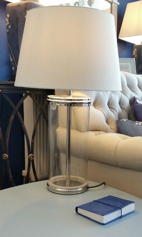 Tall Glass based Table lamp