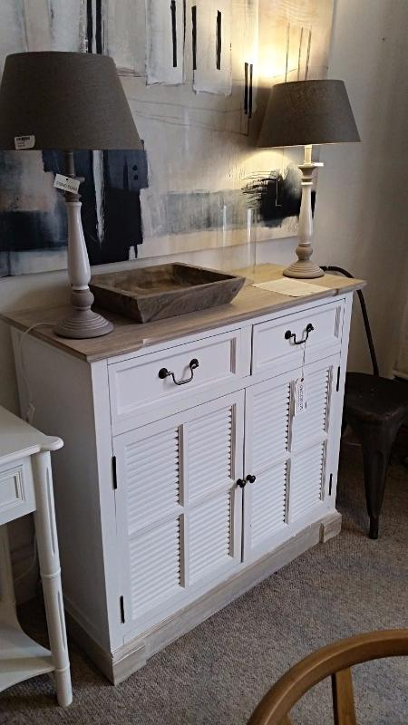 Small white sideboard