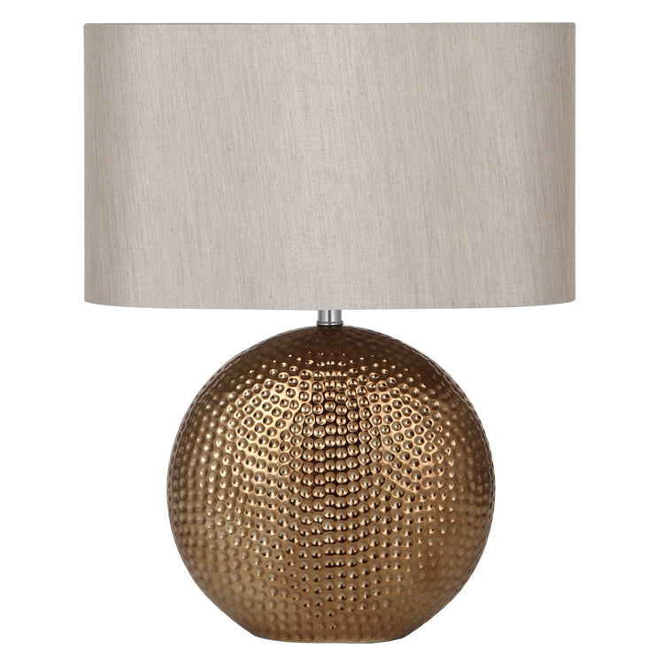 Oval Bronze Effect Ceramic Table Lamp
